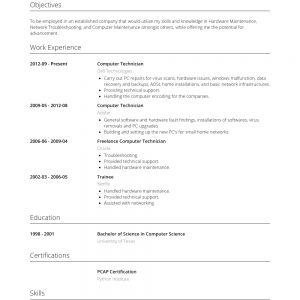 Computer Technician - Resume Samples And Templates | Visualcv