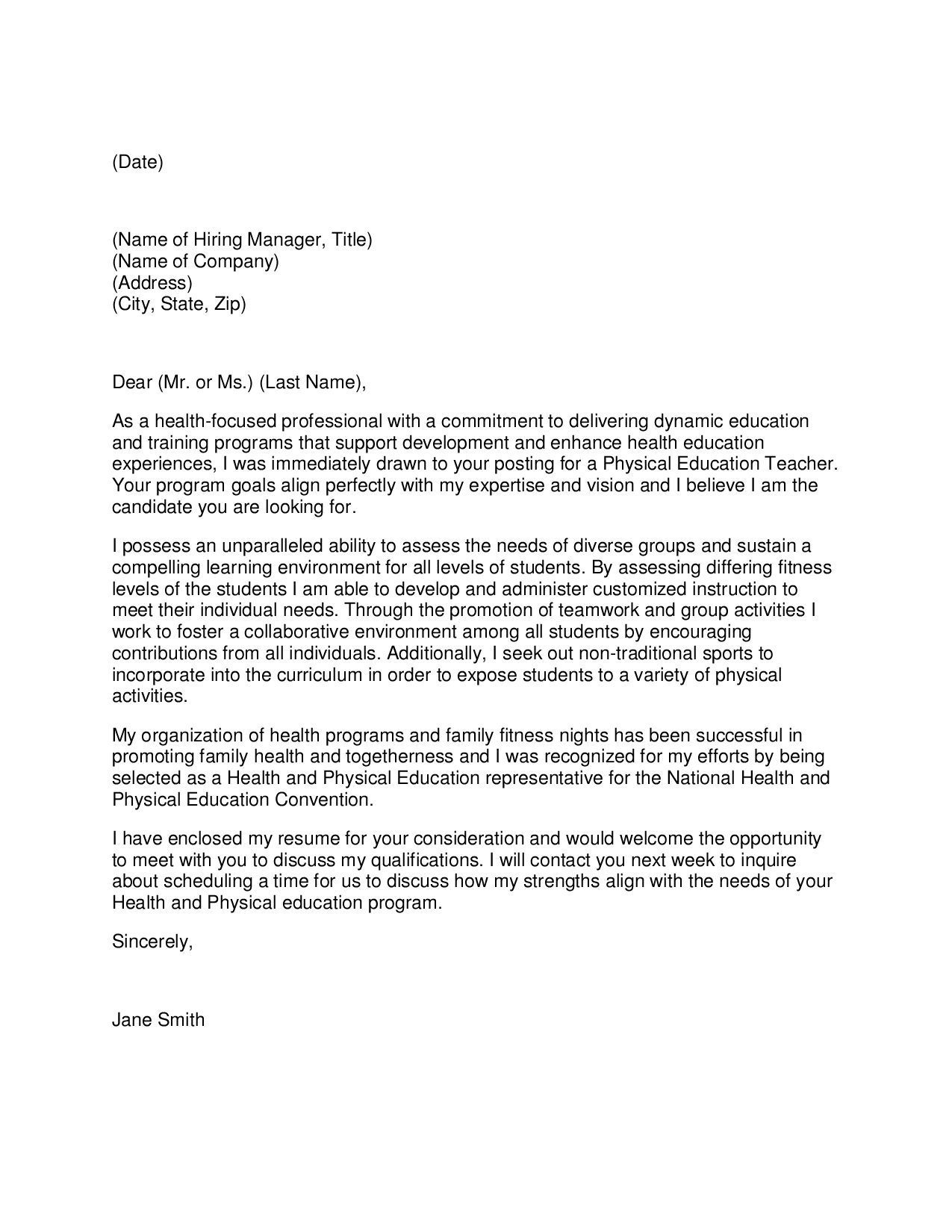 Cover Letter For Paraeducator Example | Free Resume Templates