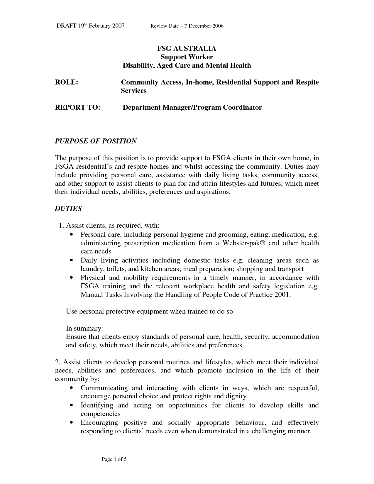 Cover Letter Mental Health Worker Letters Support Photo