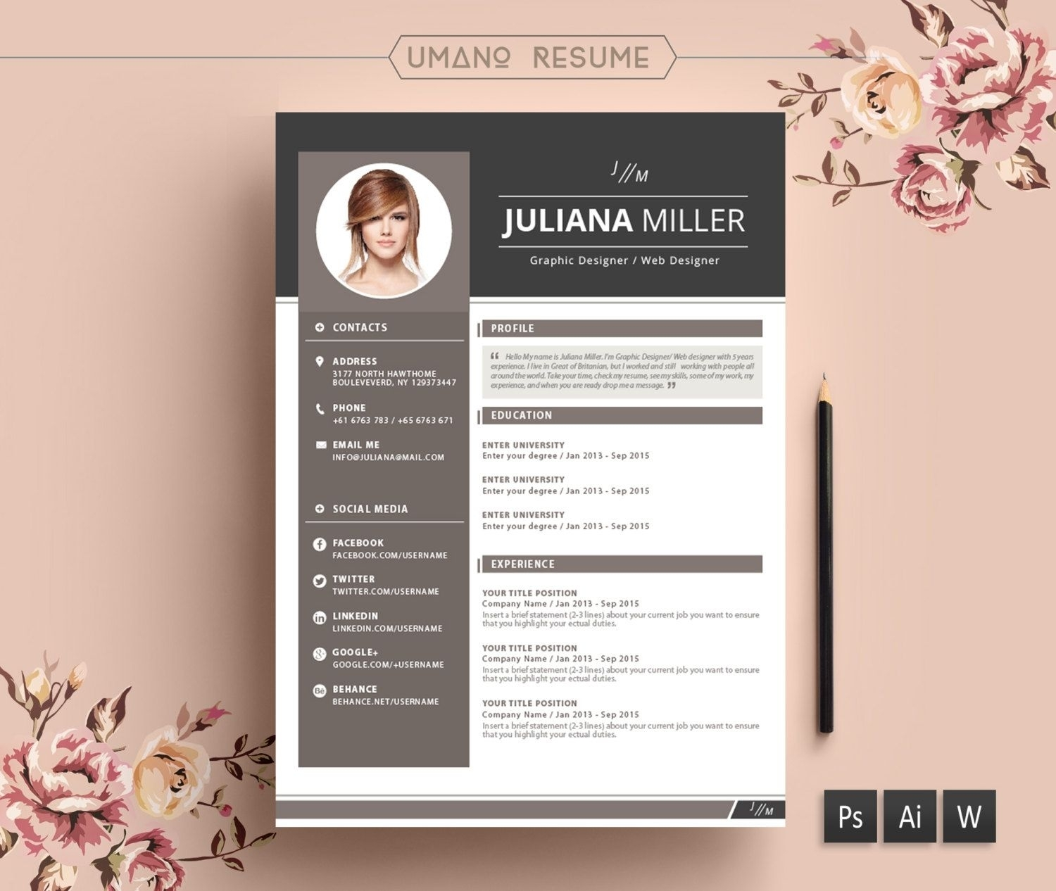 Free Creative Resume Templates Downloads