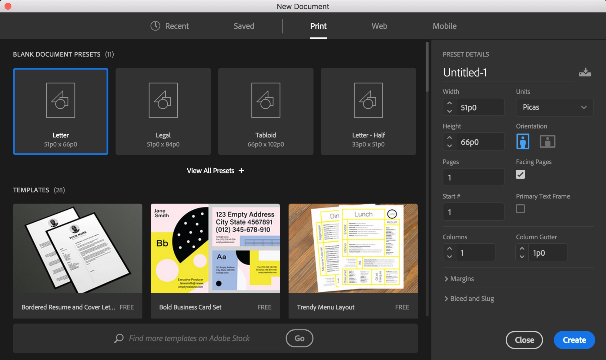 Indesign Template Free Deck