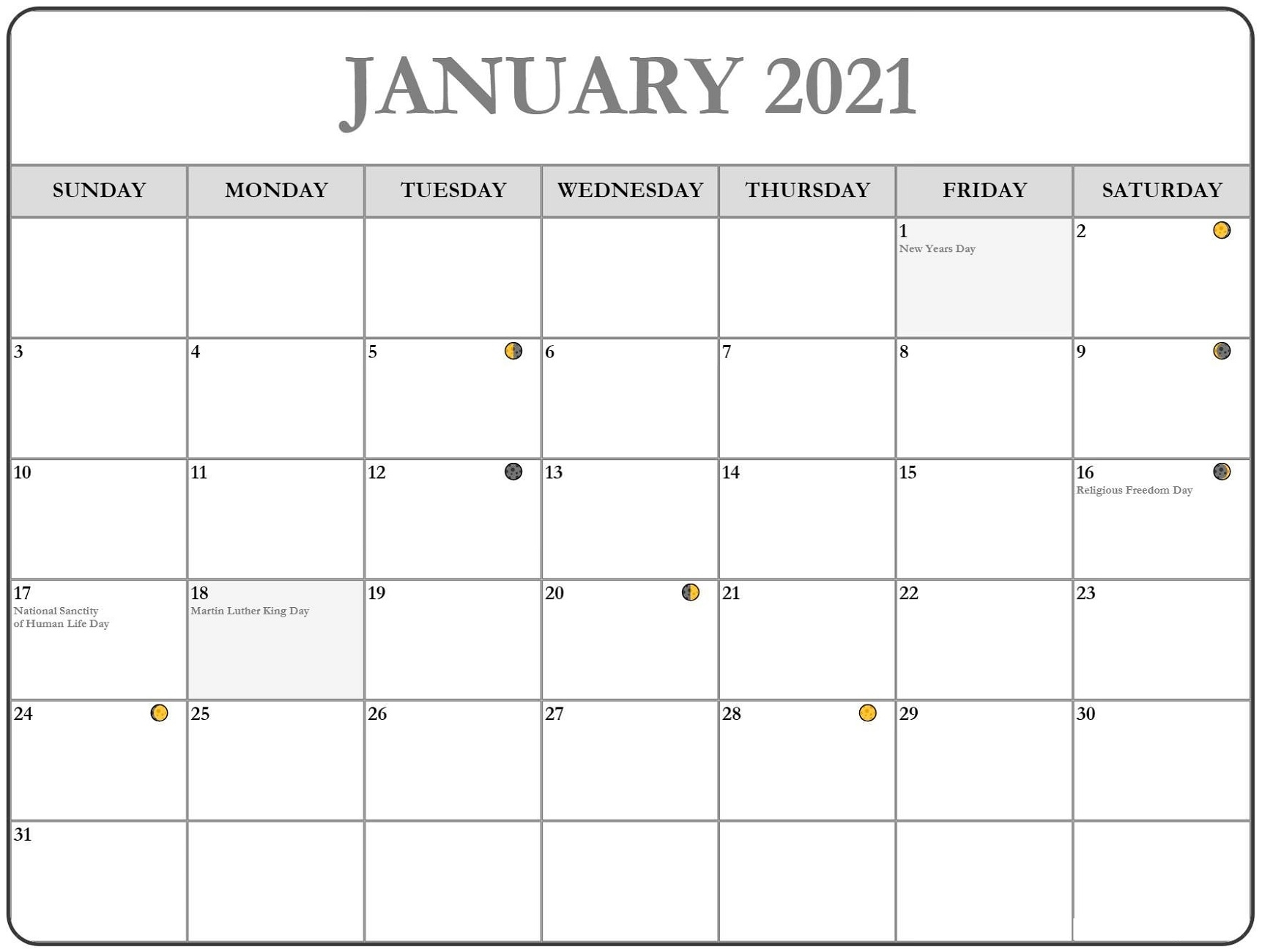 Free 2021 Printable Monthly Calendar Monthly For Fun