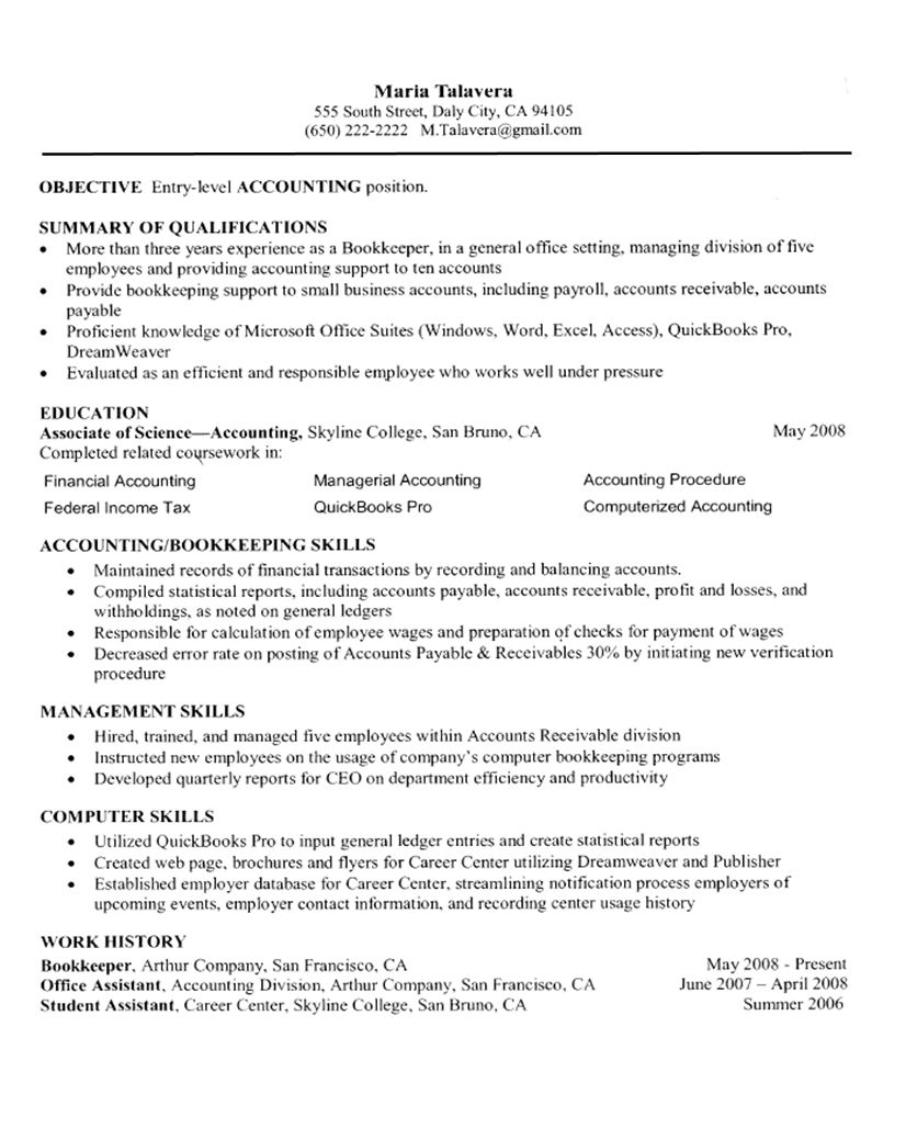 Self Employed Resume Template