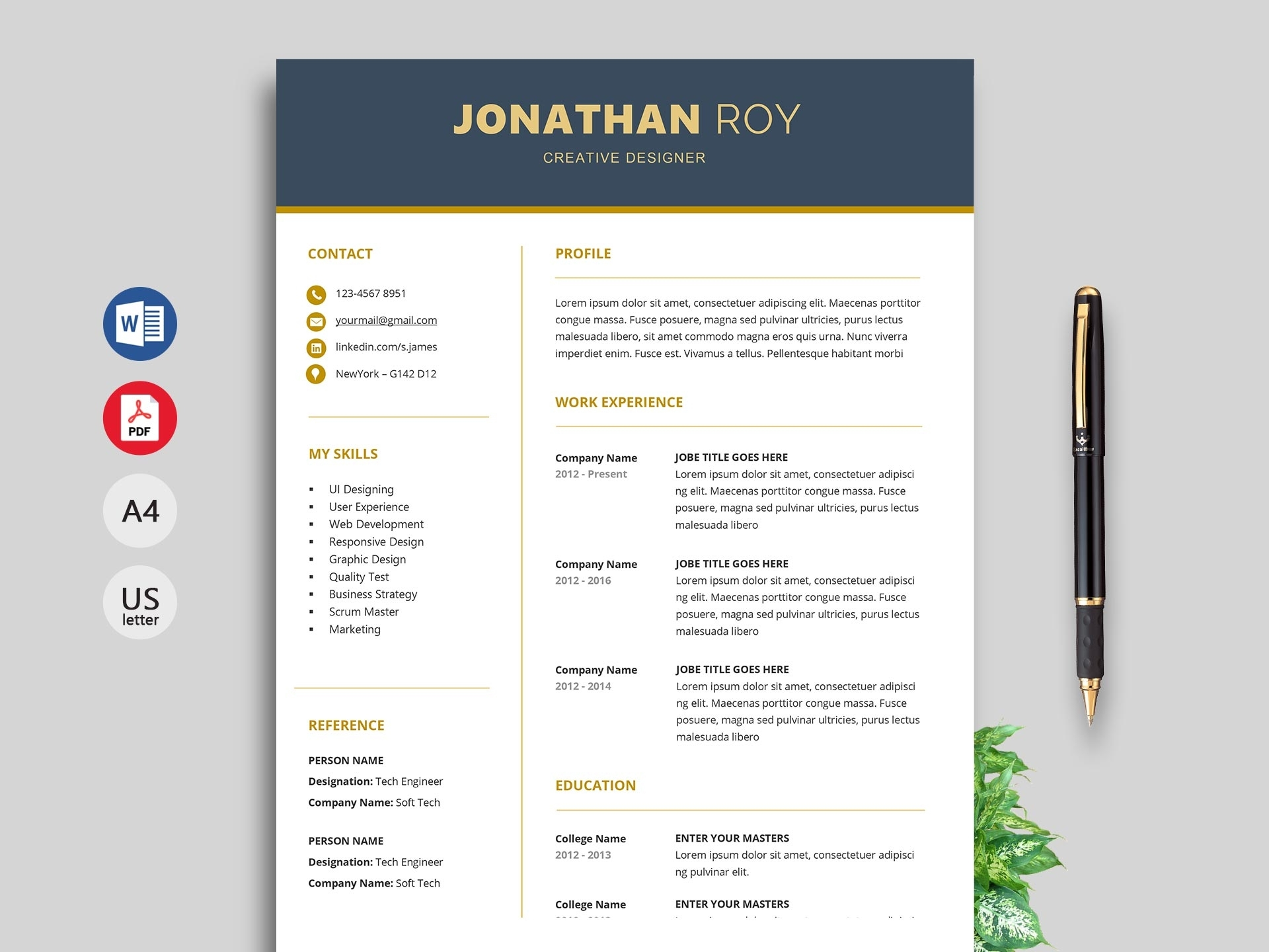 Free Cv Template Download