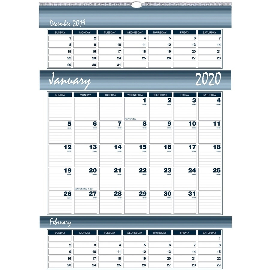 2020 Calendar 3 Month For Office Or House