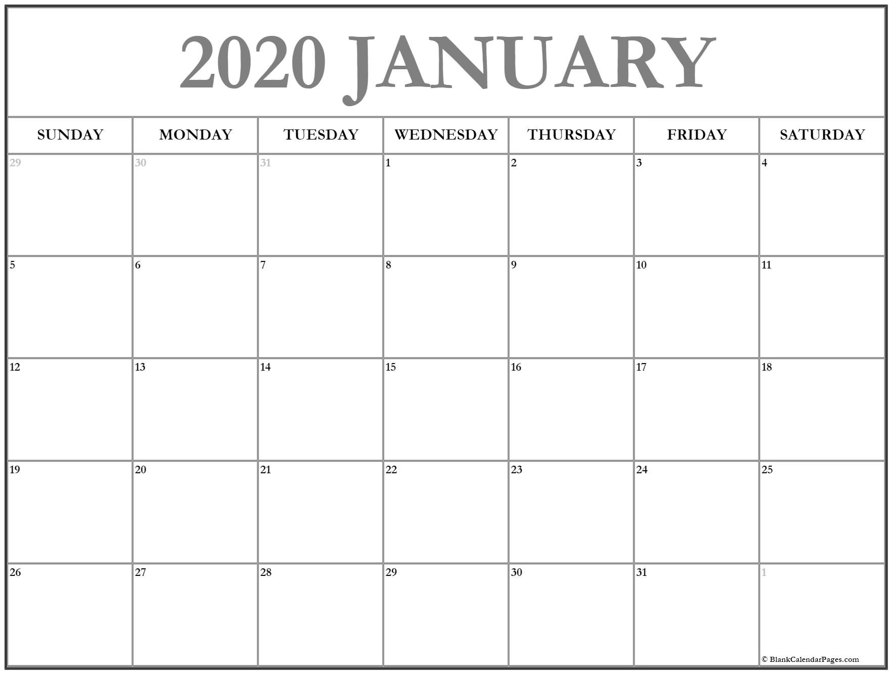 Printable Calendar Pages 2020 For All Ages