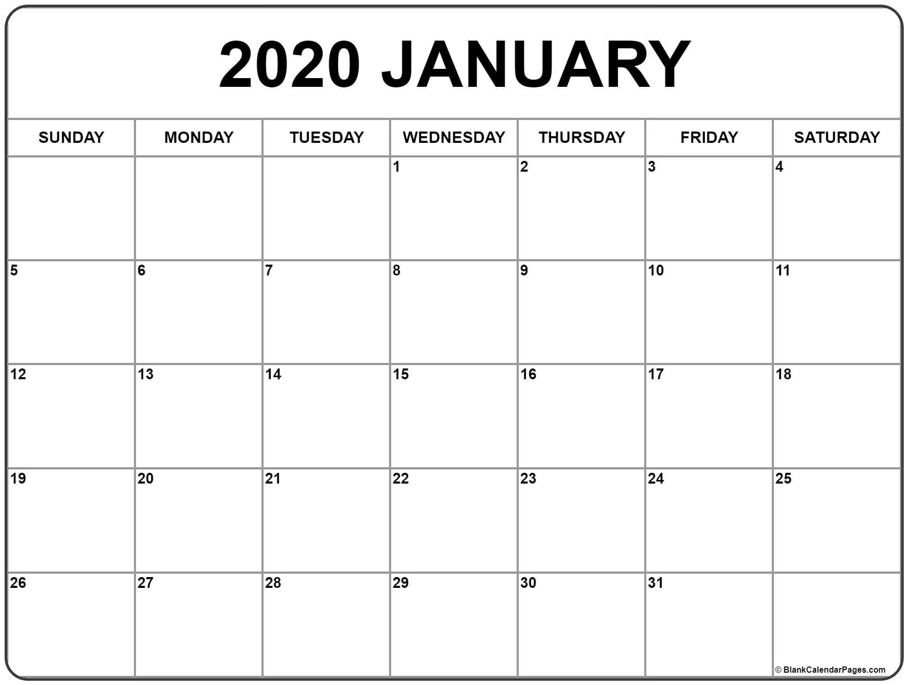 Free Printable January February 2020 Calendar Word