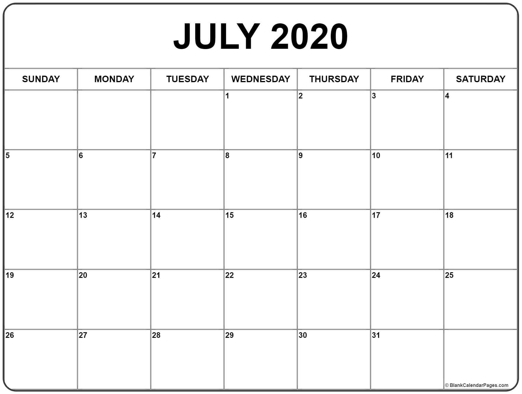 May June And July 2020 Calendar Fillable