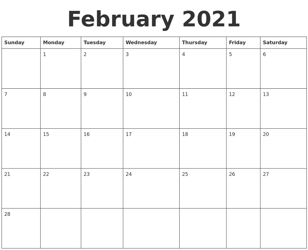 Print Free Monthly Calendar 2021 For Nice Class