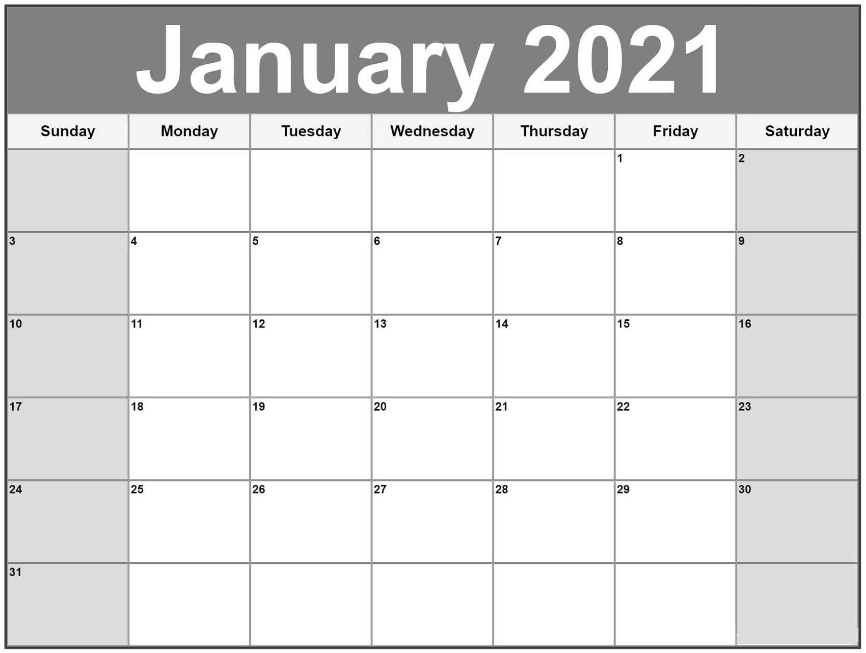 Printable Calendar Pages 2021 Monthly For Scheduling The Work