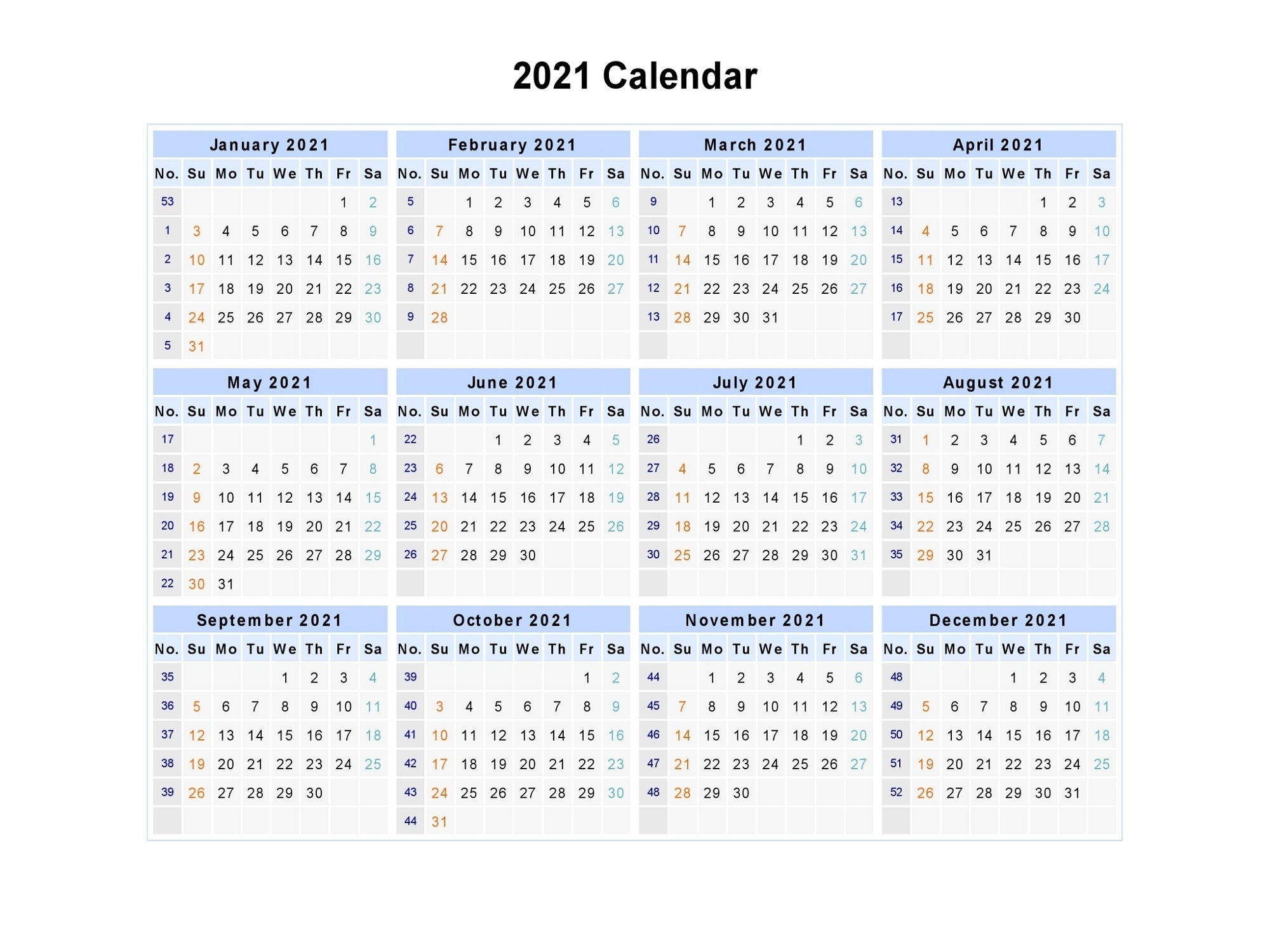 Printable Desktop Calendar 2021 Yearly For Scheduling The Work