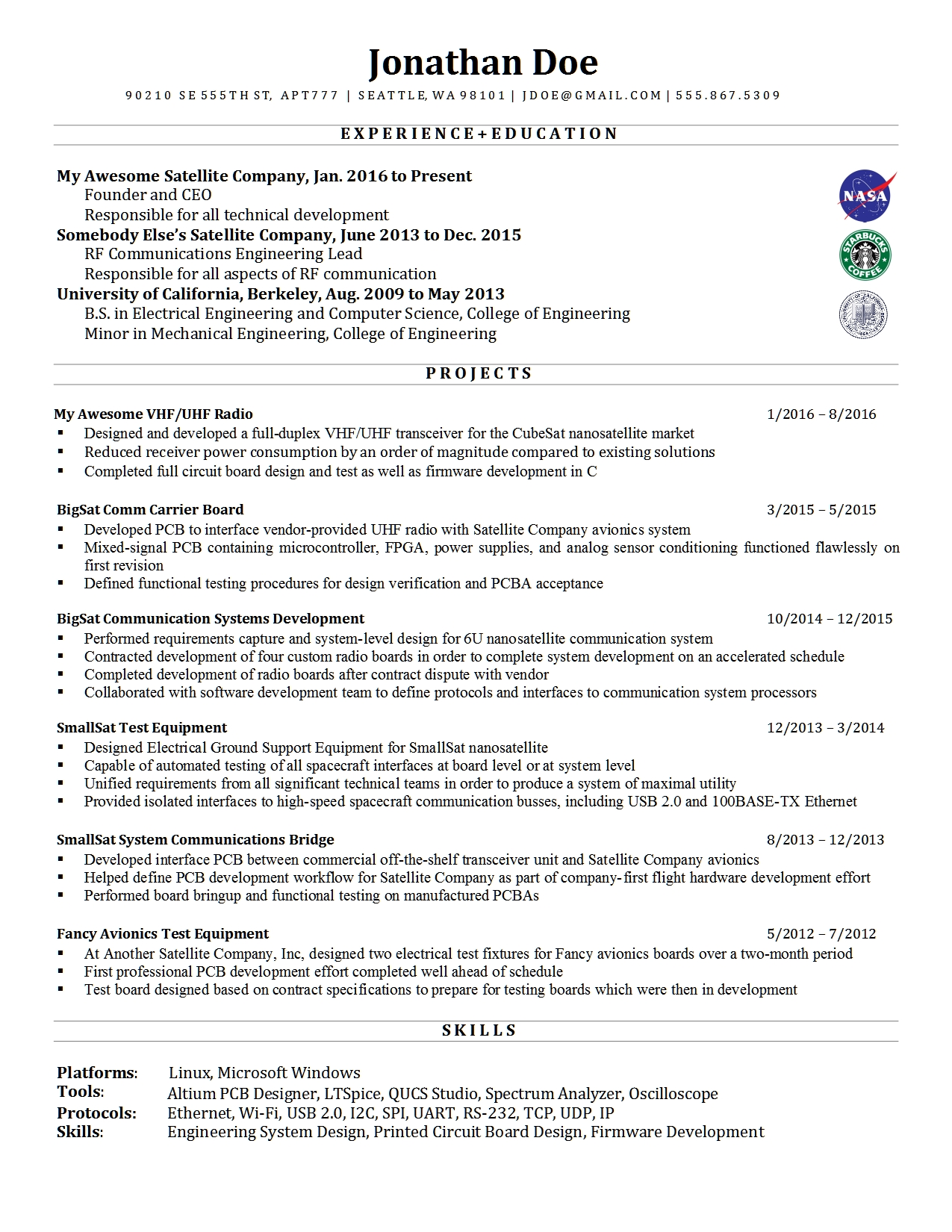 Resume Advice For Mid-Career Electrical Engineer : Resumes
