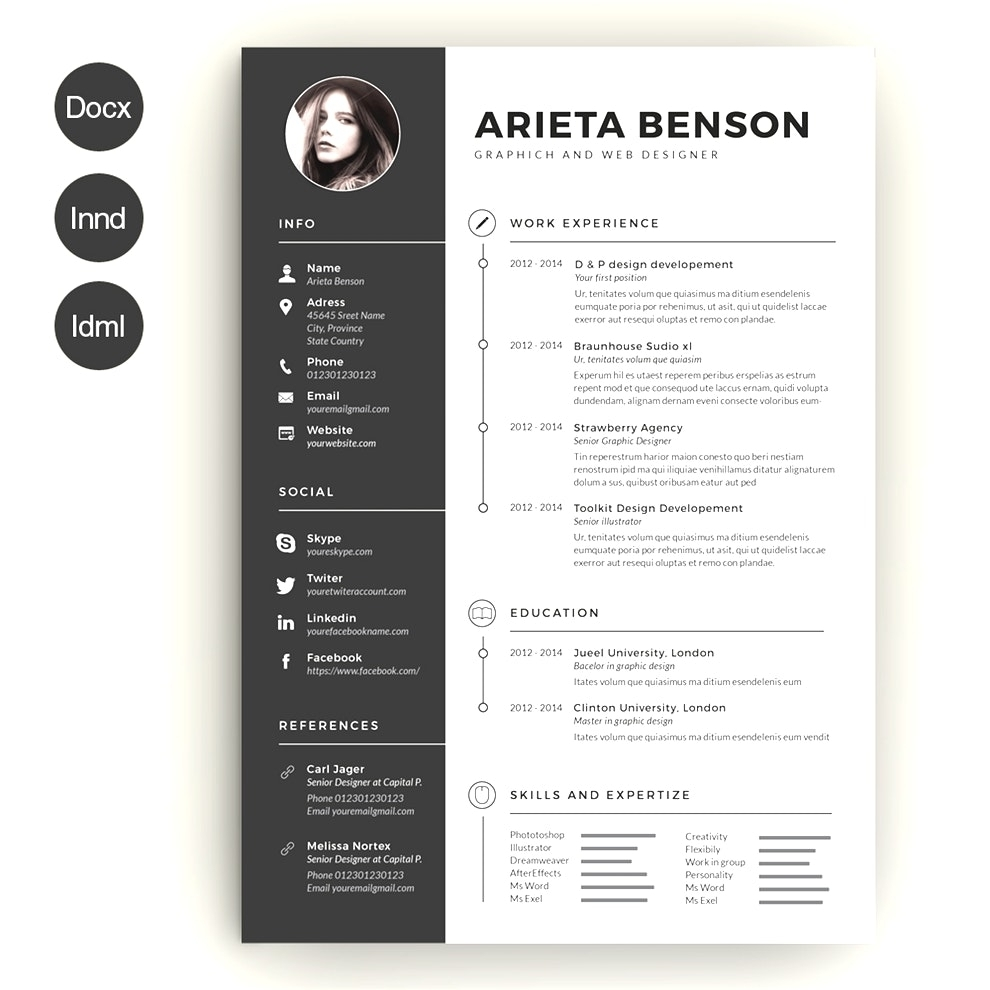 Creative Resume Templates For Word Free