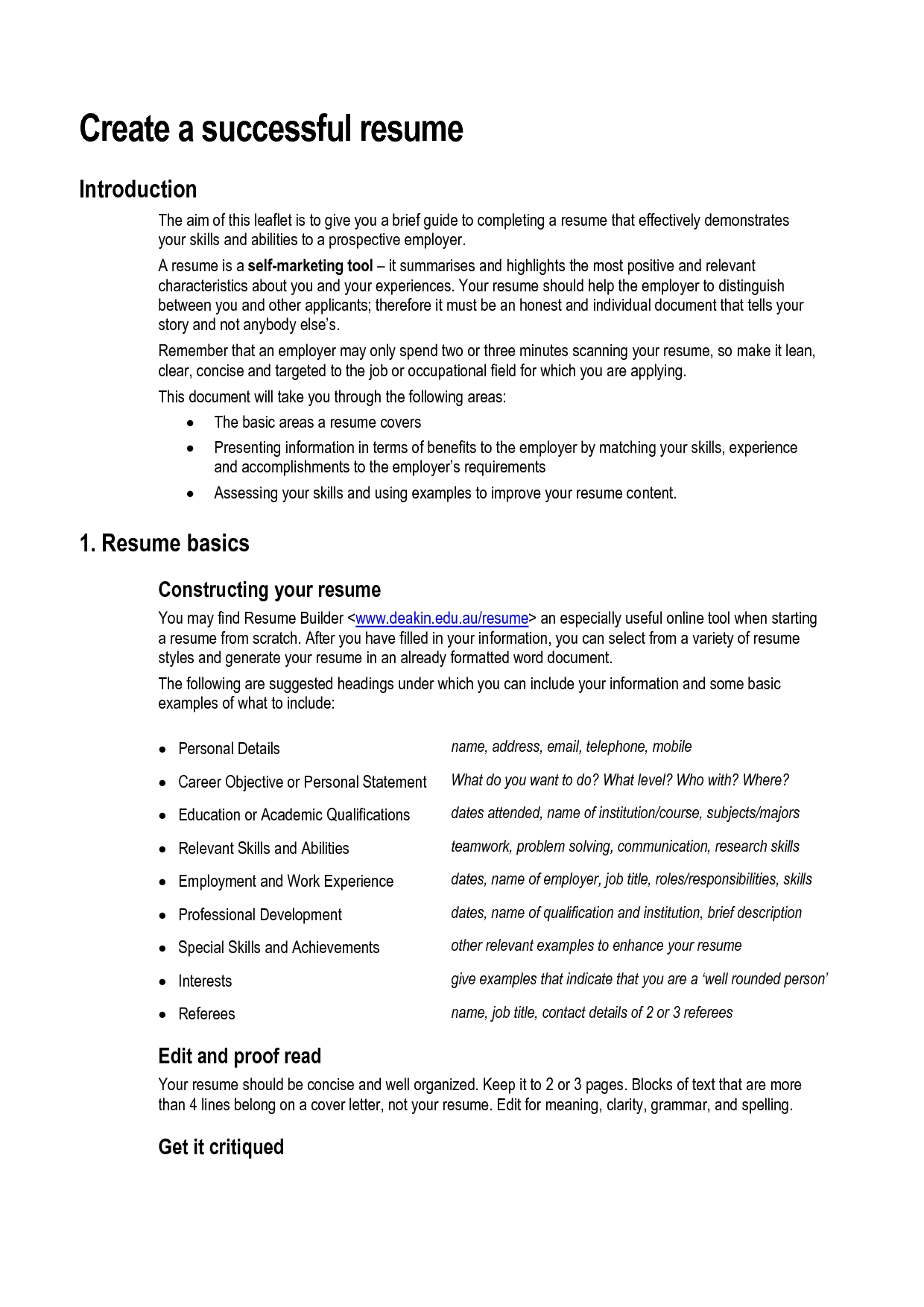 Resume Skills And Ability | How To Create A Resume – Doc