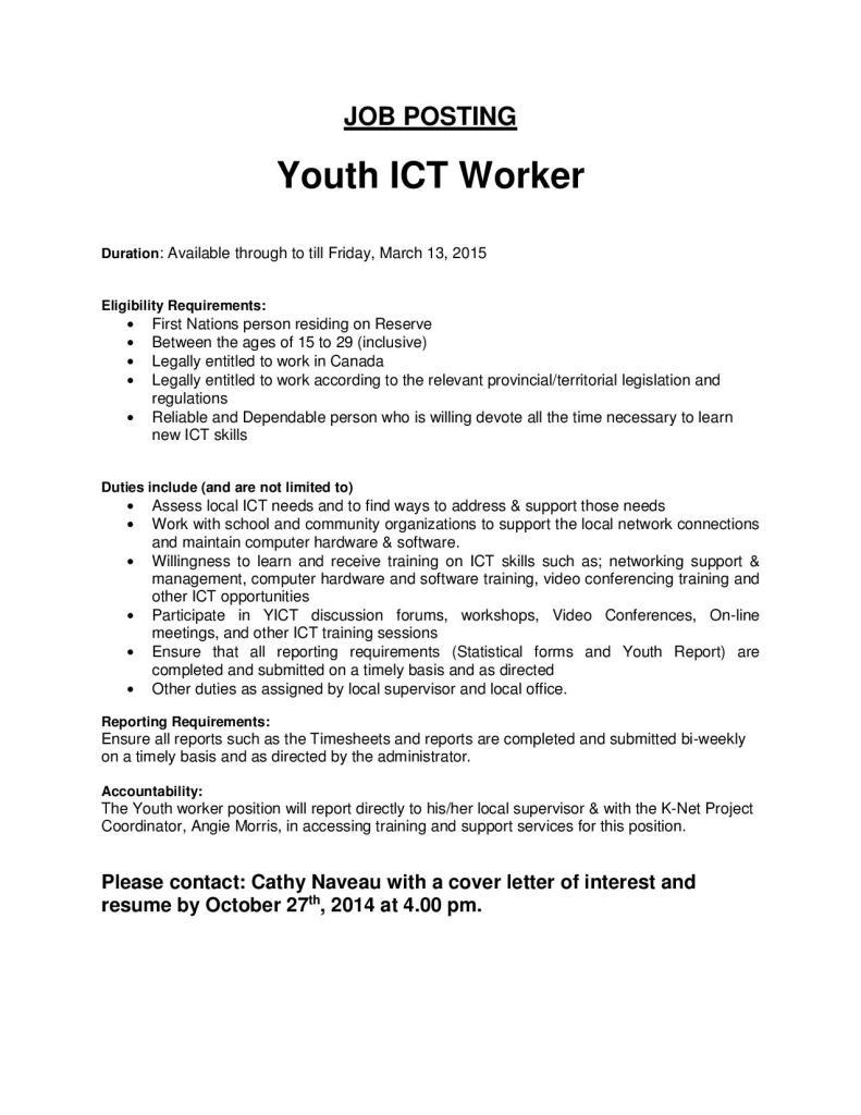 Youth Care Worker Cover Letter