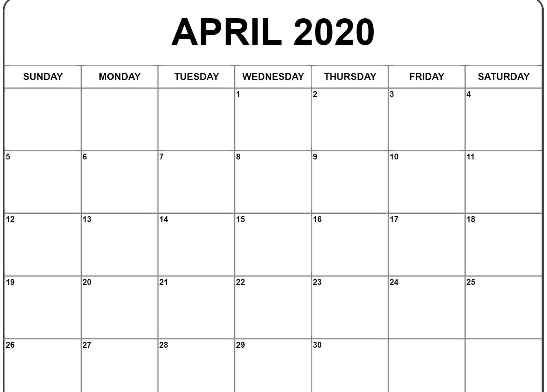 April 2020 Calendar Template | July Calendar, Free Printable