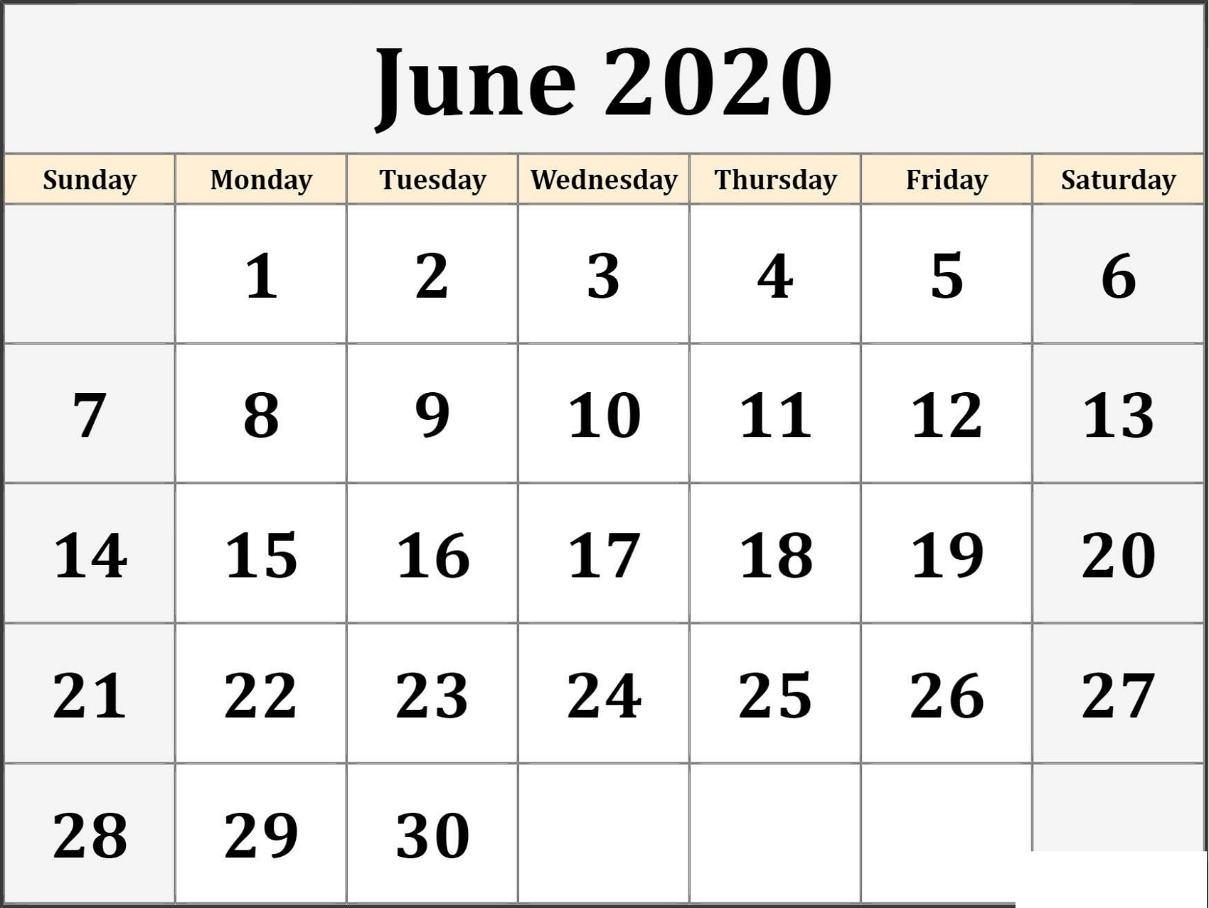 Blank Monthly Calendar 2020 Various Themes
