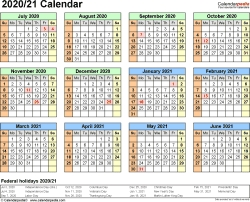 January To June 2021 Calendar