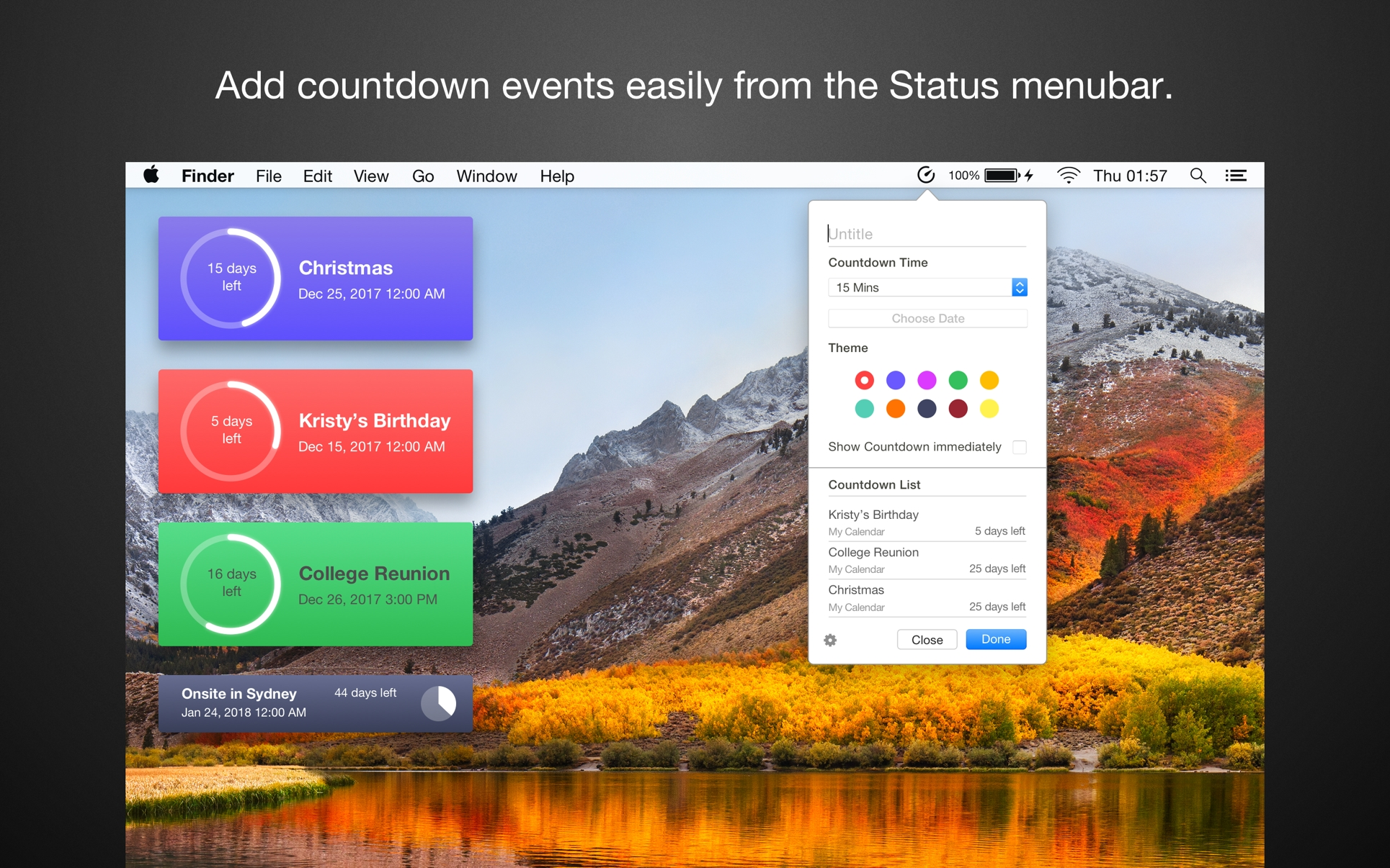 Countdown Calendar For Mac