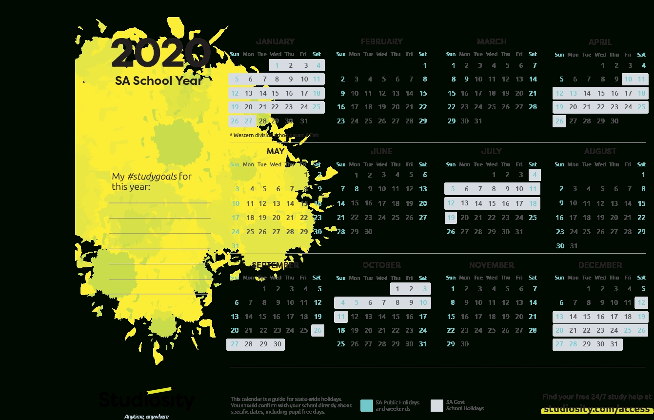 School Calendar In South Africa 2020
