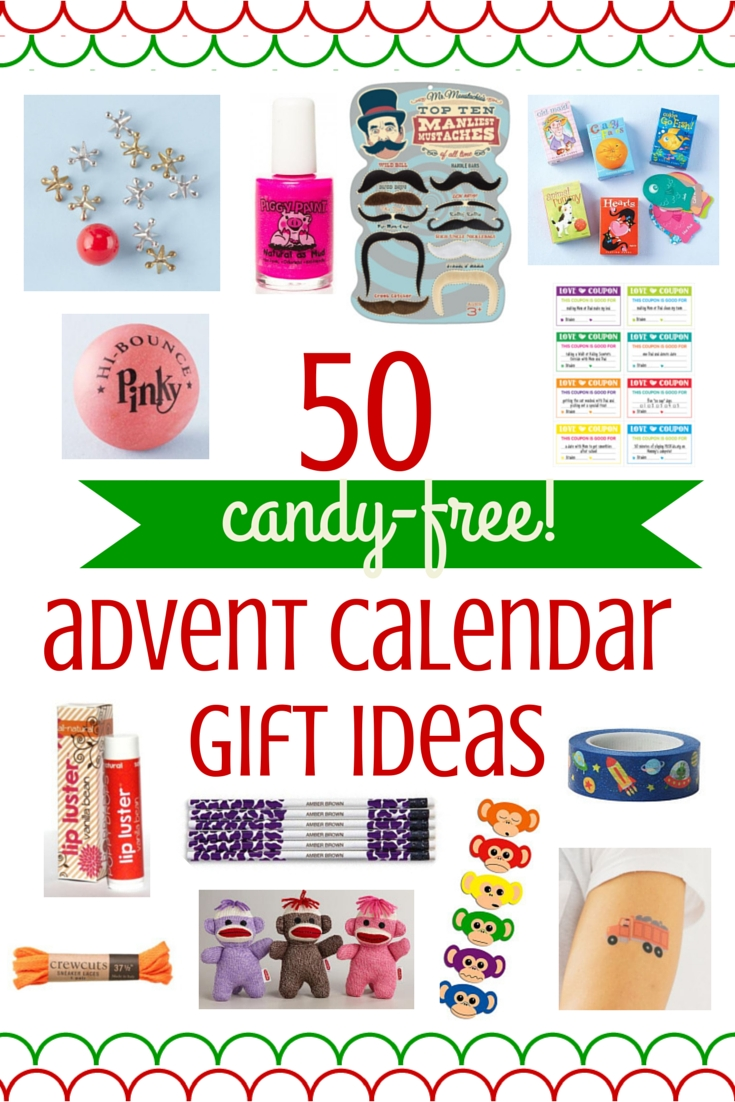 50 Ideas For Candy-Free Advent Calendar Gifts – Savvy Sassy Moms