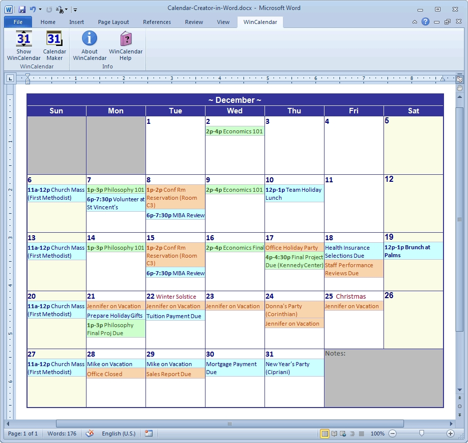 Calendar Creator Software