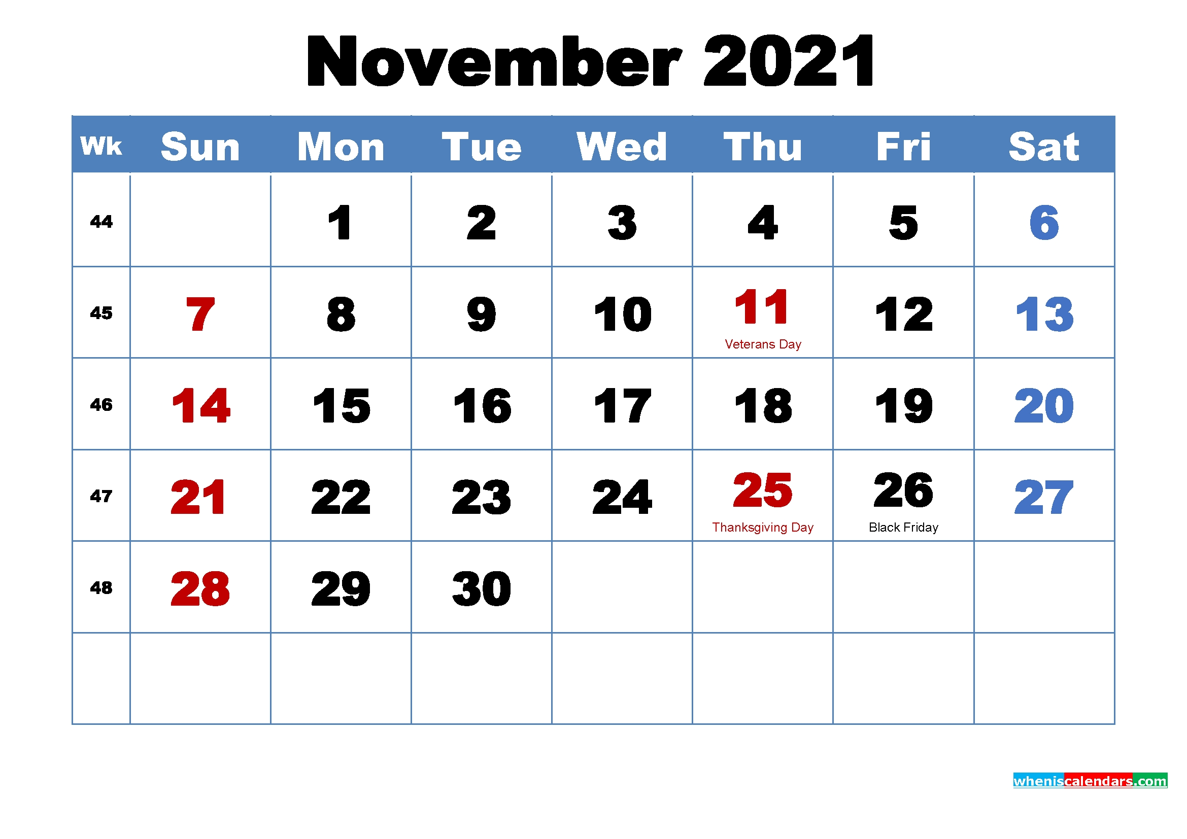 When Is Thanksgiving In 2021 2