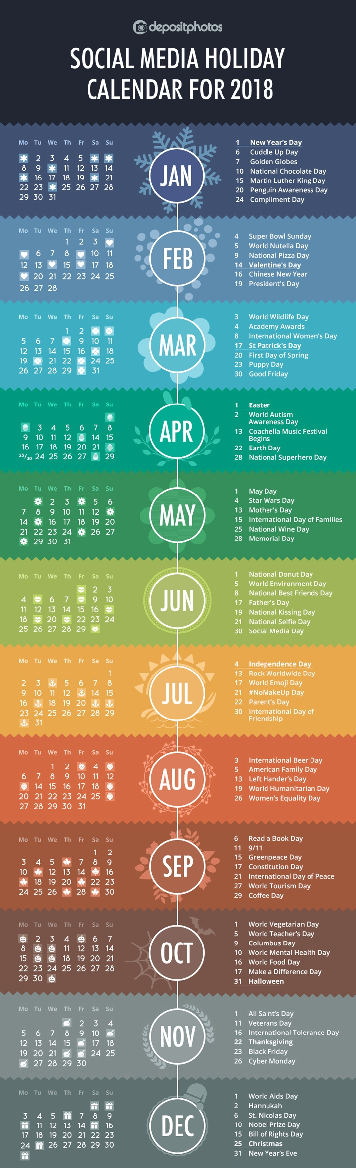 Calendar With Every Holiday In The World
