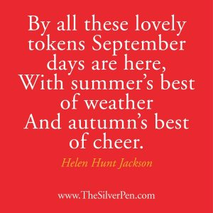 By All Tokens September Days Are Here, With Summer's Best