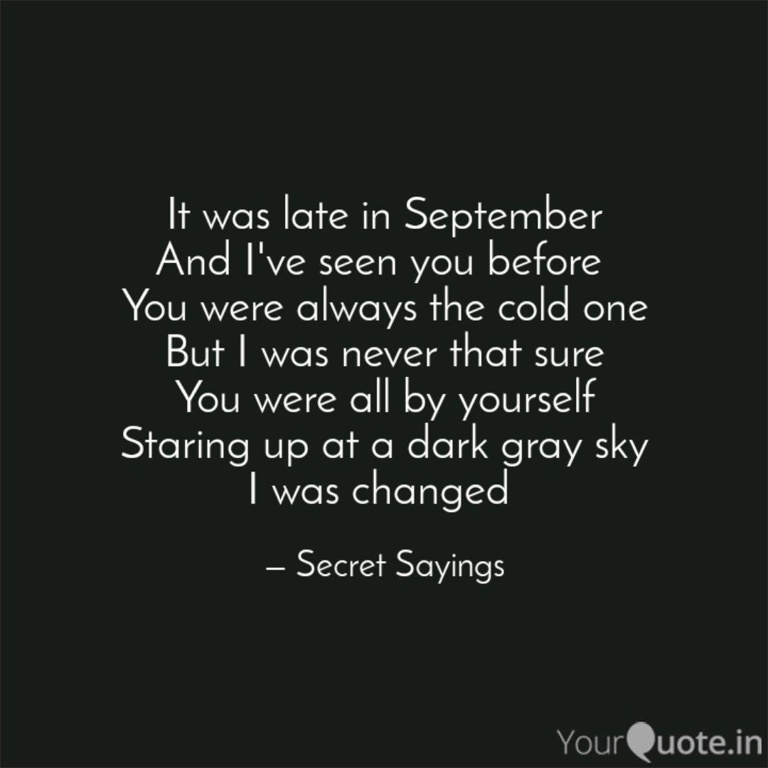 Late September Quotes