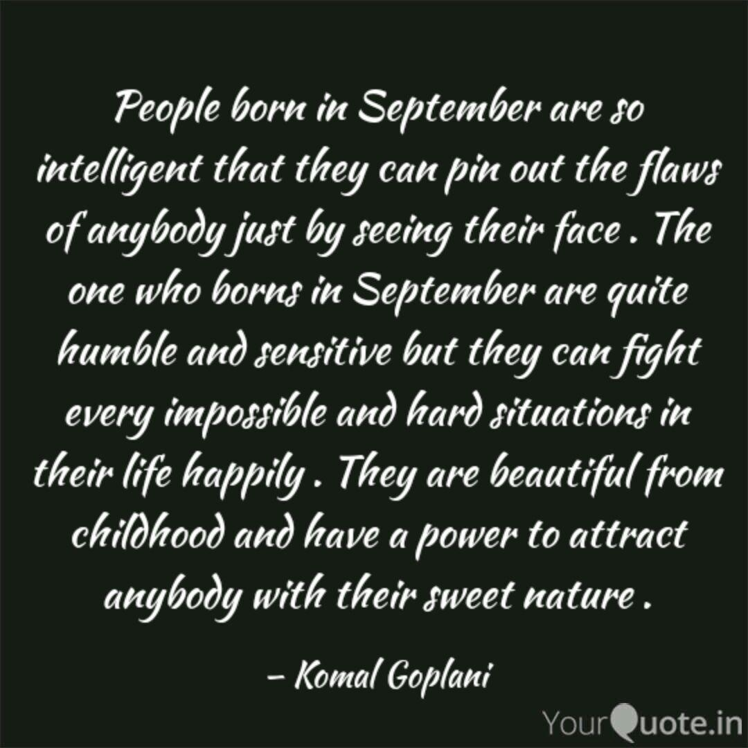 People Born In September  | Quotes & Writingskomal