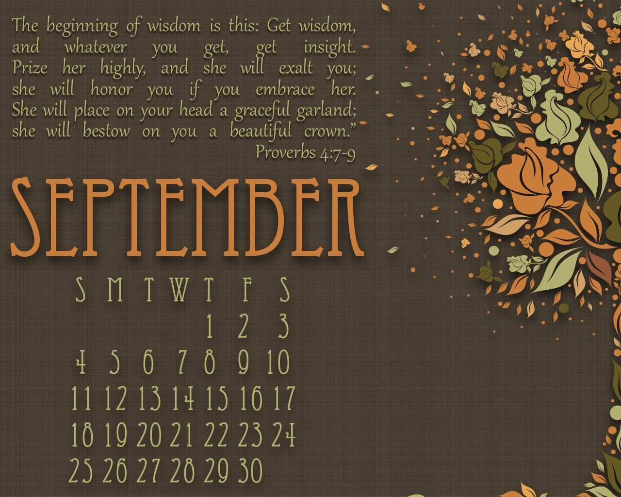 September Bible Quotes