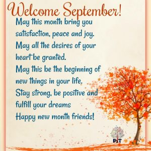 Unique Welcome September Wishes Quotes | September Quotes