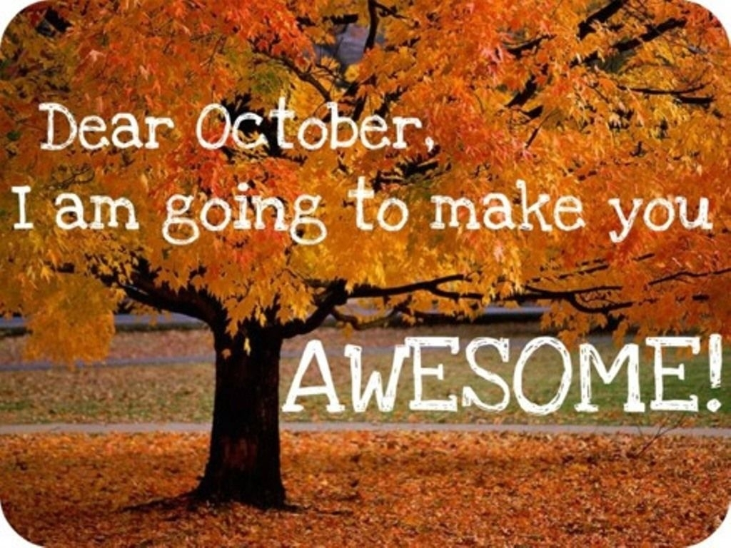 Welcome October Quotes Tumblr | Welcome October Month Images