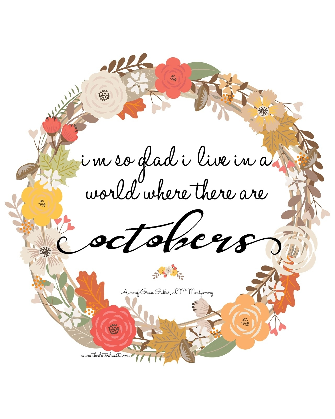 October Quote Anne Of Green Gables