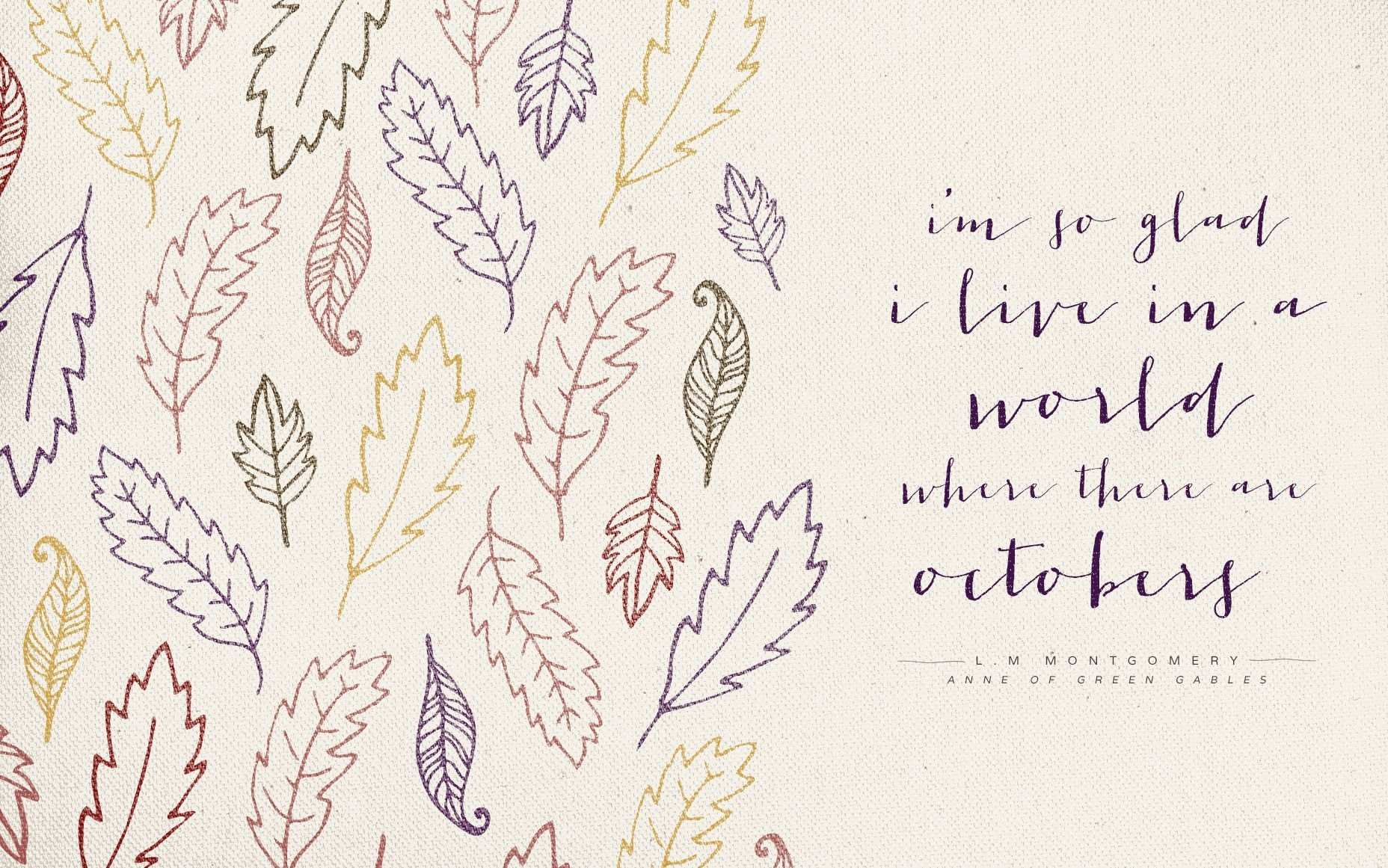 October Quotes Wallpapers