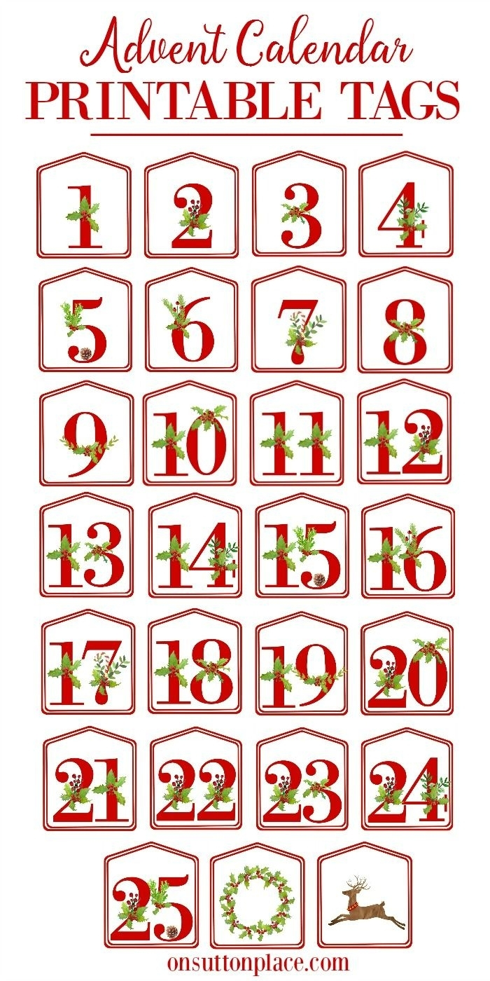 Christmas Alphabet Printables – On Sutton Place In 2020