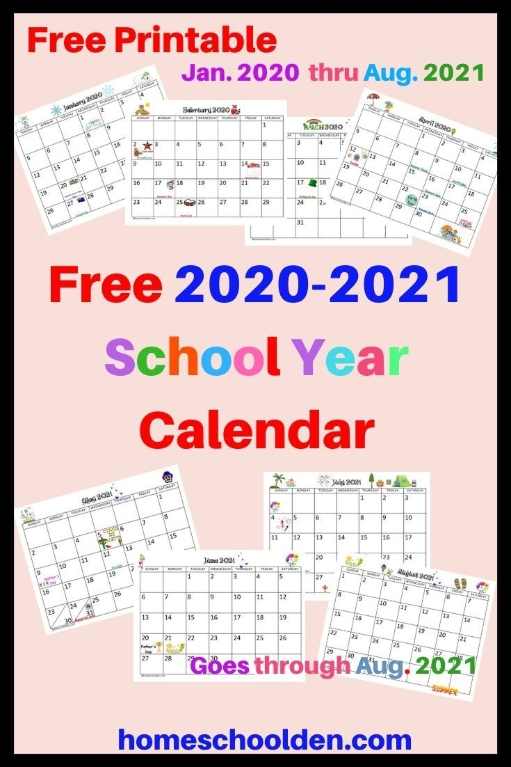 2021 2020 Academic Calendar Template For Powerpoint
