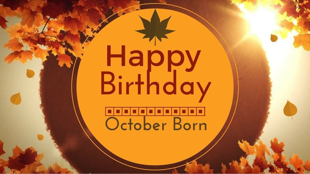 Happy Birthday Quotes For October