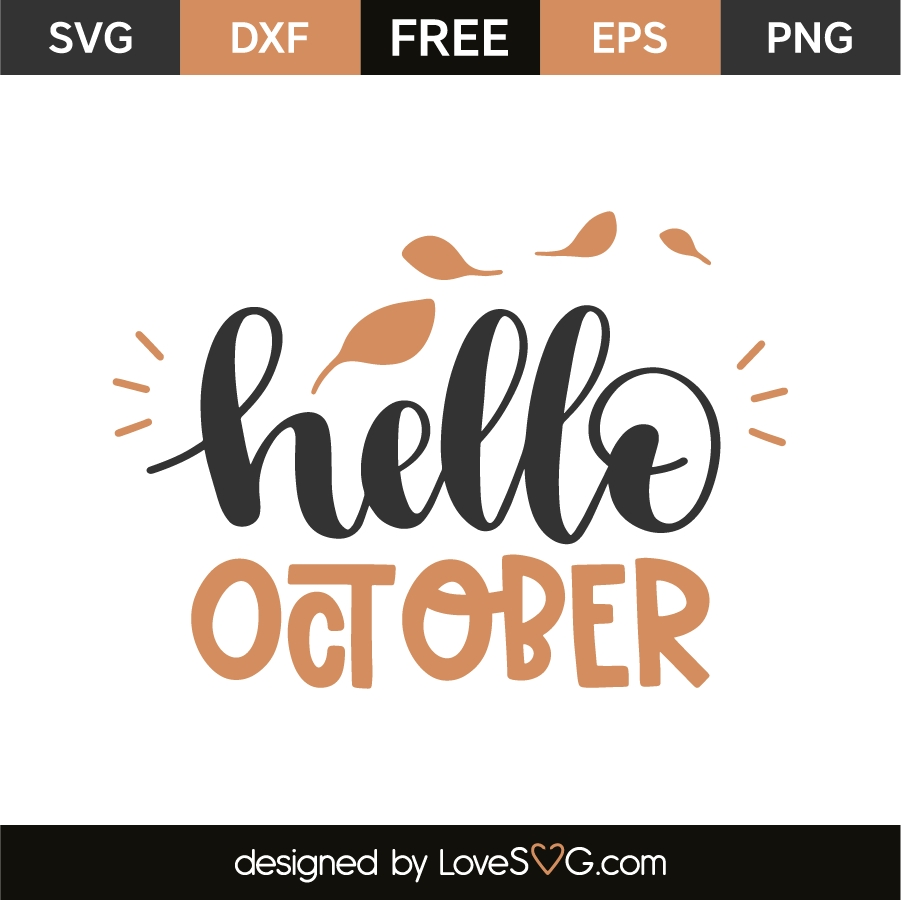 Hello October Transparent