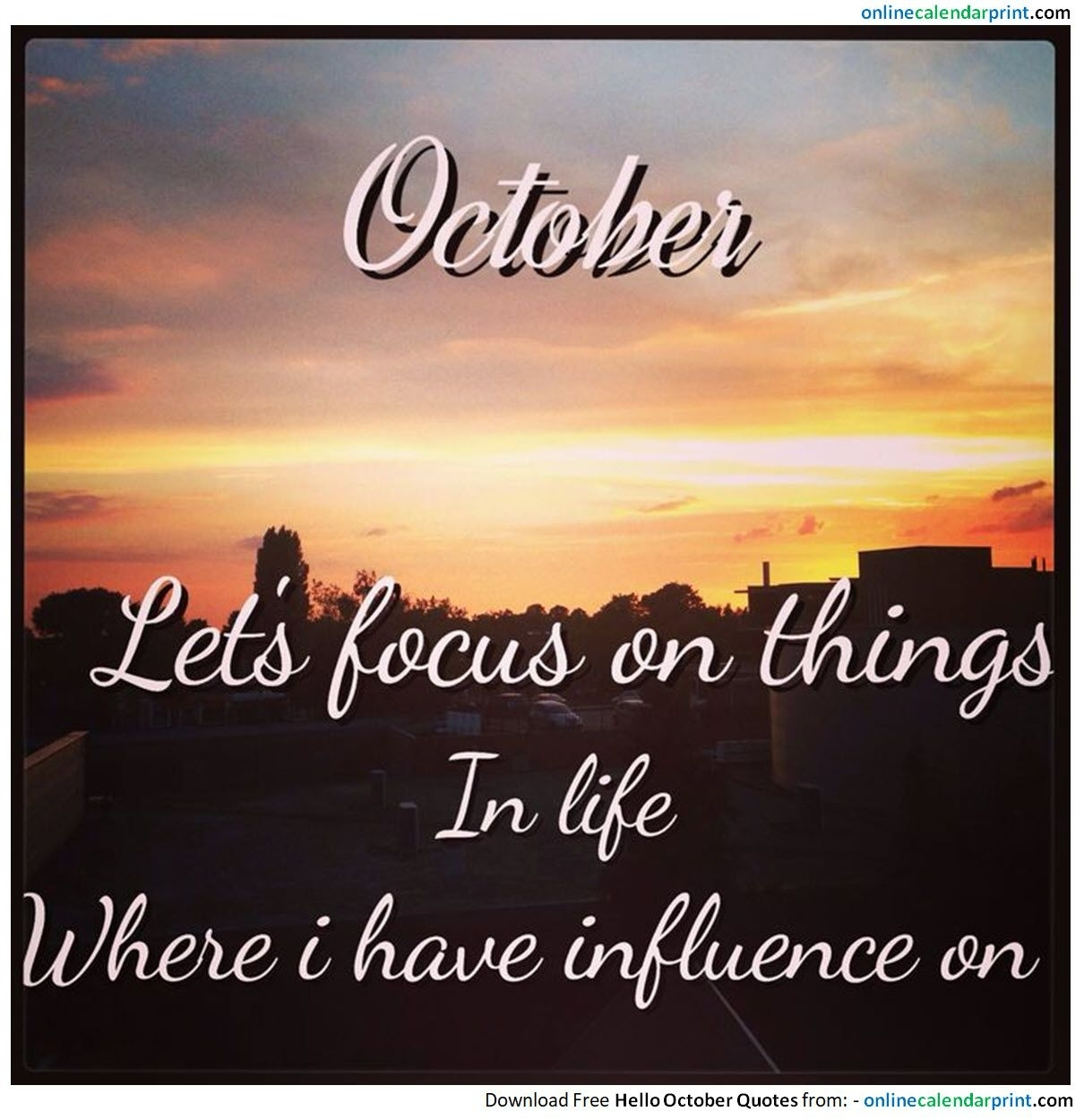 October Month Quotes Images