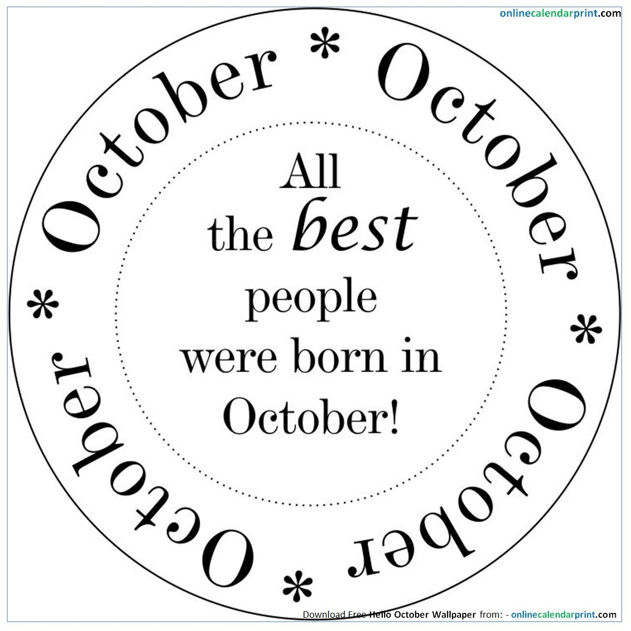 October Birthday Quotes Download