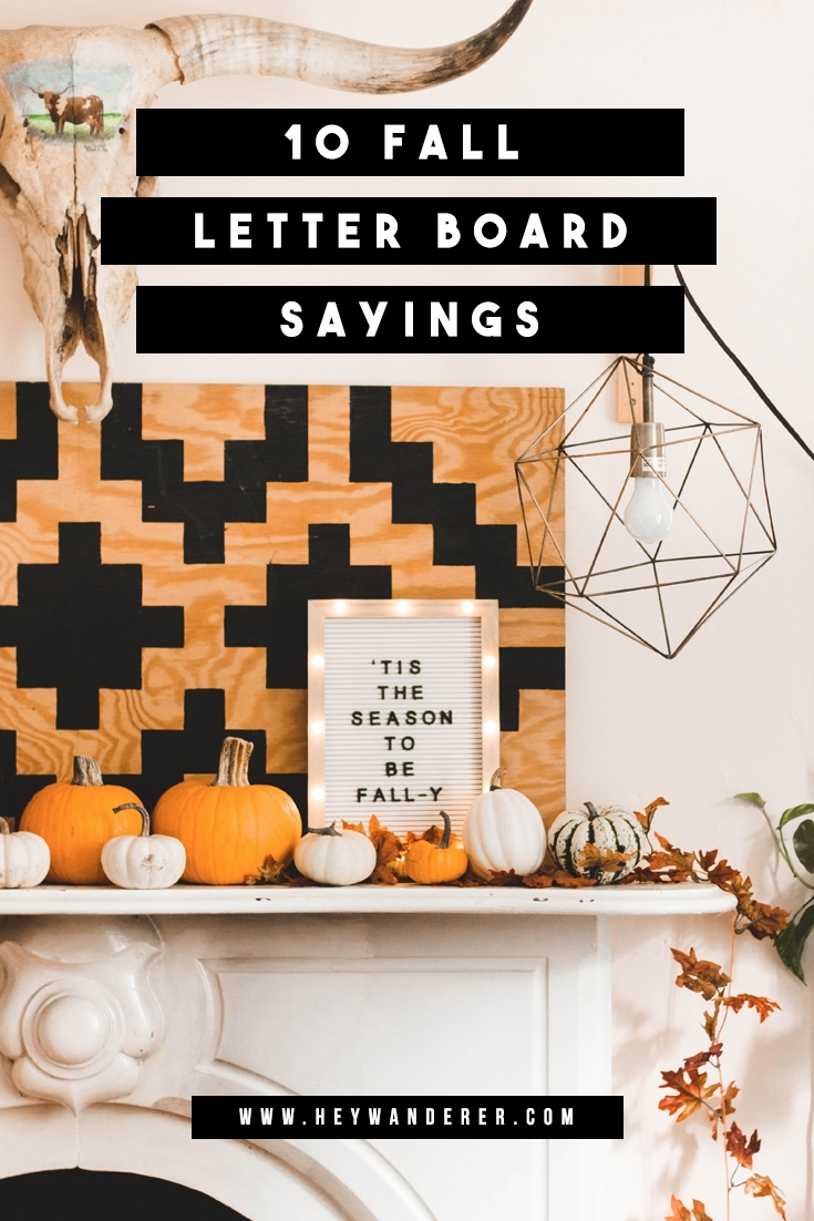 10 Clever Fall Sayings For Your Letter Board + A Free Fall