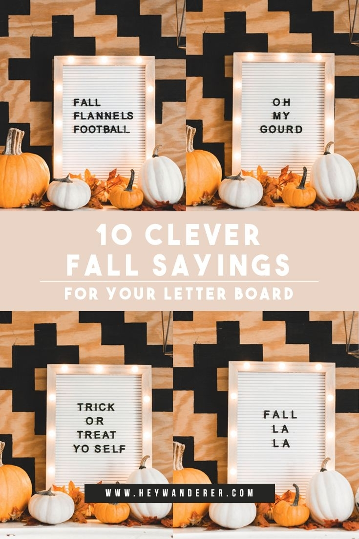 October Sayings For Letter Boards