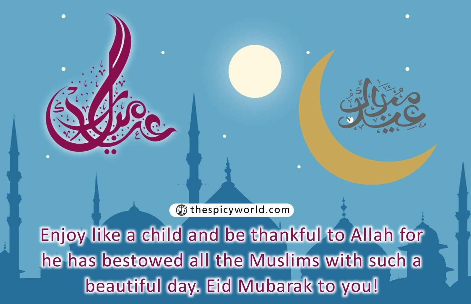 100+ Eid Mubarak Wishes Sms Status Quotes Greetings Cards