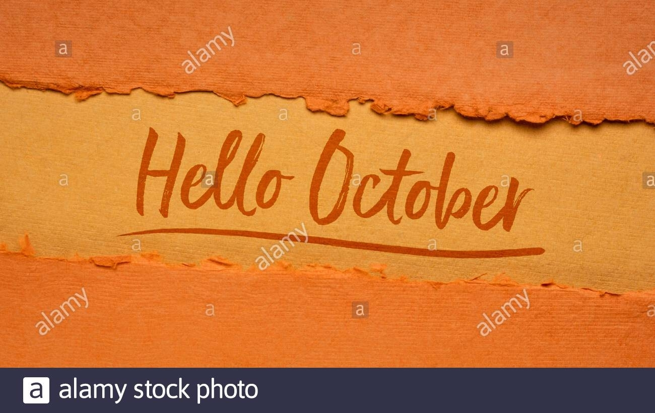 Hello October Welcome Note – Handwriting On A Handmade Rag