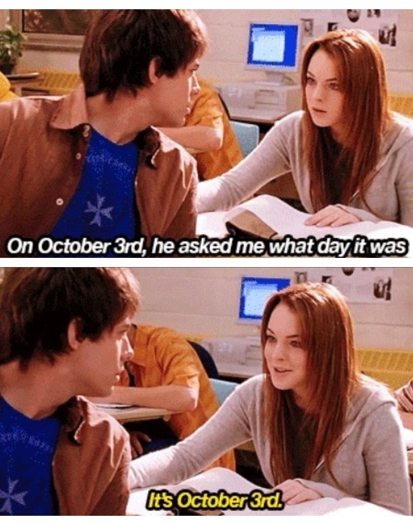 October 3Rd Movie Quote