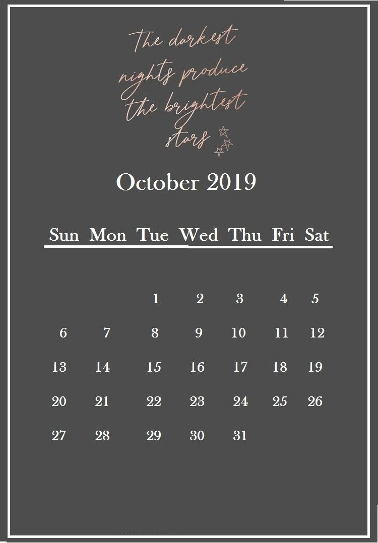 Inspirational Quotes For October 2019