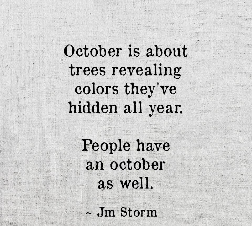 October Poetry Quotes